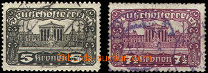 44539 - 1920 Mi.288C + 289C Parlament, zoubkování 11½ : 12&fr