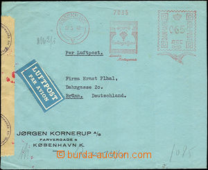 44544 - 1942 DENMARK  commercial air-mail letter to Bohemia-Moravia,