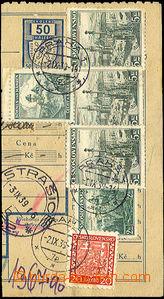 44546 - 1939 ČaM  ústřižek pošt. průvodky vyfr. smíšenou fra