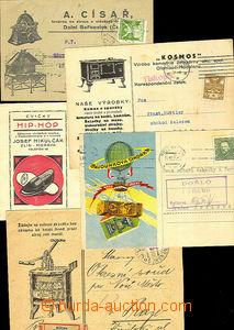 44549 - 1920-34 sestava 4ks lístků a 1 obálky s dekortivními př
