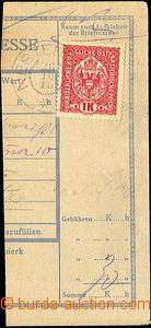 44556 - 1918 1.den ČSR - ústřižek pošt. průvodky s rakouskou zn. 1K