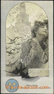 44596 - 1920 MUCHA Alfons (1860–1939), Vzpomínka na rodné Ivančice (