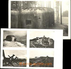 44607 - 1940 2 pcs of photo postcard with bunkers by/on/at Králíky