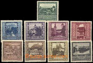 44610 - 1923 Mi.433-41, Zemská hlavní města, svěží, kat. 130�