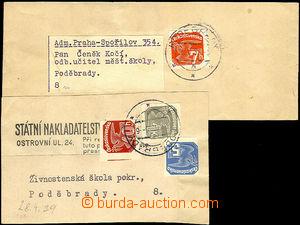 44658 - 1939 celý novinový rukáv a 1x adresní výstřižek vyfr.