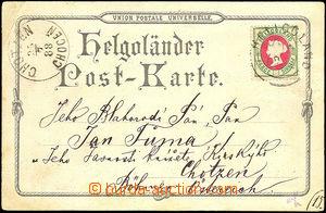 44678 - 1888 pohlednice vyfr. zn. Mi.14, DR Helgoland 21.7.88 (neúp