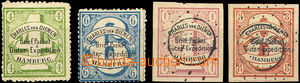 44684 - 1864 HAMBURG  Charles van Diemen, Mi.4, 5 + hodnoty 1Sch a 8