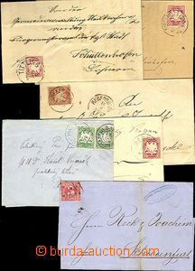 44696 - 1866-1907 comp. 6 pcs of letters , 1x letter with Mi.9 with