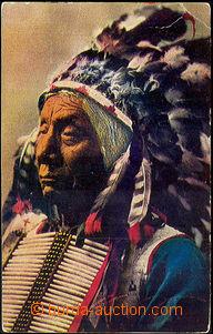 44706 - 1907 indián Chiefe Red Cloud, barevná, prošlé, několik