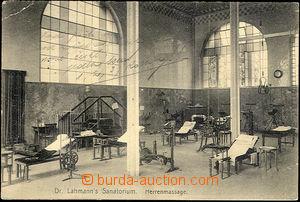 44709 - 1923 POSILOVÁNÍ, Dresden Lehmanns Sanatorium, interiér re