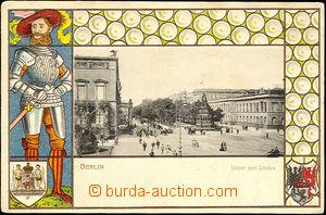 44710 - 1900 Berlin Unter den Linden, barevná tlačená koláž s 1