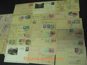 44714 - 1919-32 ČSR I.  sestava 19ks různých dopisnic a 1 průvod