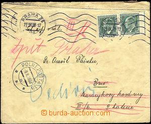 44731 - 1938 dopis zaslaný 6 dní po vyhlášení mobilizace do kas