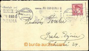 44739 - 1939 letter with print advertising machine postmark Via Radi