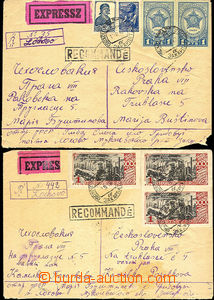 44748 - 1947-48 comp. 3 pcs of  Reg and Express letters to Prague, v