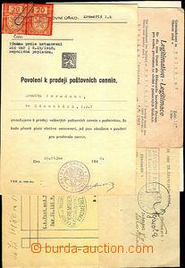 44807 - 1912-48 ČSR / KROMĚŘÍŽ partie 5ks různých dokumentů k poštov