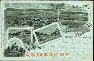 44834 - 1899 Česká Třebová - lithography, railway-station, chape