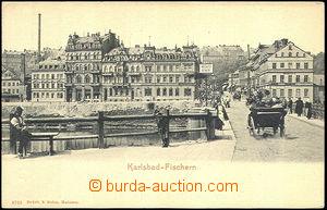 44837 - 1900 Karlovy Vary, Karlsbad-Fischern, pohled přes most, na z