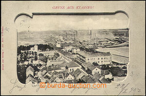 44846 - 1902 Kladno - view of town in/at tvarovaném frame; long addr