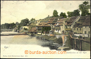 44847 - 1901 Cheb - houses jirchářů by river; long address, Us, unst