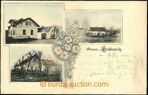 44851 - 1905 Pochlovice - Gruss aus Pochlowitz, 3-okénková; DA, nepr