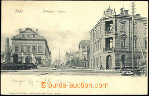 44852 - 1902 Žatec (Saaz) - Holletitzer street; long address, Un, go