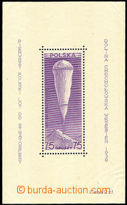 44873 - 1938 Mi.Bl.6, Stratospheric Flight, strong hints in margins,
