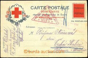 44899 - 1918 FRANCE  card prisoner post French Red Cross sent legion