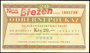 44906 - 1965 Czechoslovakia  voucher Tuzex 20Kčs with omezenou vali