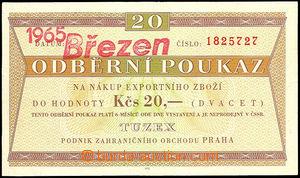44907 - 1965 Czechoslovakia  voucher Tuzex 20Kčs with omezenou vali