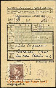 44912 - 1944 KT BIRKENAU  podací lístek na balík zaslaný z Prote