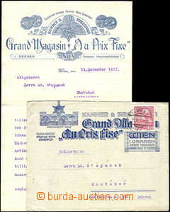 44925 - 1911 commercial envelope and heading letter paper Grand Maga