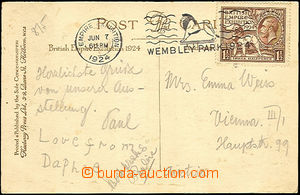 44939 - 1924 postcard to Austria from exhibition Empire Exhibition,