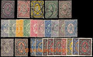 44949 - 1879-1901 sestava 27ks zn., mj. Mi.3, 6-8, 10, 12-20, 27, 20
