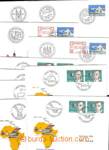 45011 - 1977-88 SWITZERLAND  10 pcs of envelopes to Anniv flight Zür