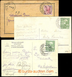 45016 - 1898-1912 AUSTRIA  comp. 3 pcs of Ppc with special postmark