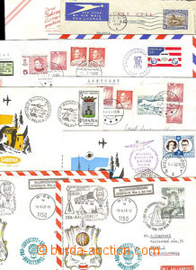45025 - 1950-80 EUROPE  comp. 9 pcs of air-mail entires (2x balon),