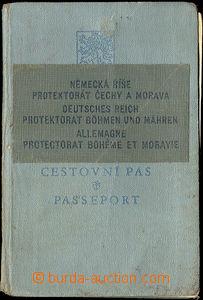 45034 - 1939 pass Czechoslovakia with over splice German Reich/ Prot