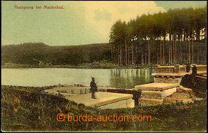 45056 - 1917 přehradní hráz u Mariánských Lázní, barvotisk, p