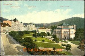 45057 - 1910? Mariánské Lázně, hotely Weimar a Stern a katolickým ko