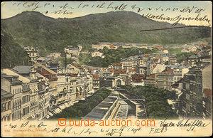 45059 - 1903 Karlovy Vary, záběr na část kolonády (Stará a nová louk