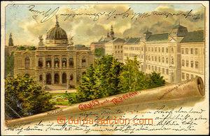 45062 - 1901 Opava (Troppau) - barevná lito, záběr na muzeum a u�