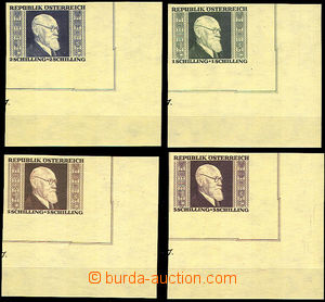 45068 - 1946 Mi.772-775B Renner, imperforate LR corners miniature sh