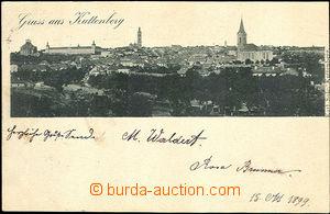 45076 - 1899 Kutná Hora, general view, monochrome, long address, us