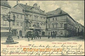 45078 - 1898 Chomutov (Komotau) - hotel Reiter a hotel Adler; DA, pr