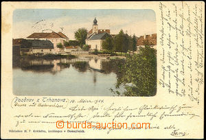 45079 - 1904 Trhanov, general view over pond on/for part of the vill