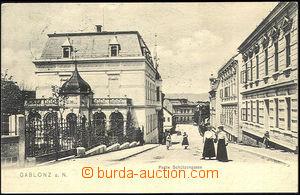 45080 - 1900 JABLONEC NAD NISOU (Gablonz a. N.) - pohled do ulice; D