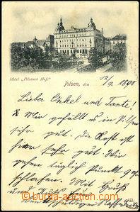 45082 - 1898 Plzeň, hotel Plzeňský dvůr, jednobarevné, DA, použité,