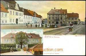 45087 - 1900 Údlice (Eidlitz bei Komotau) - zámek, náměstí; DA,