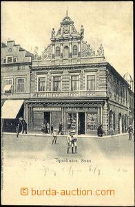 45092 - 1900 Žatec (Saaz) - bank; long address, Un, preserved